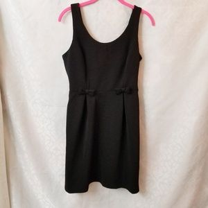 LC Lauren Conrad Women's Dress Bow Detail Black